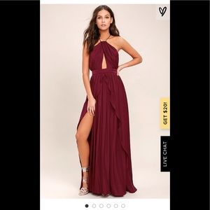 NWT! Lulu's Own your own Burgundy Dress